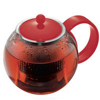 Assam Teapot - Red Plastic Handle