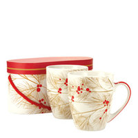 Winter Berry Mug Gift Set (Set of 2)