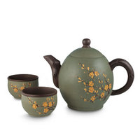 Yixing Clay Blossom Tea Set