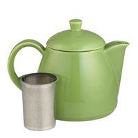 Leaf Green Acorn Teapot