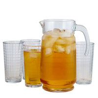 Windowpane Iced Tea Set