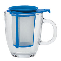 Blue Yo-Yo Tea Mug and Strainer