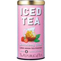 Strawberry Basil Green Tea Large Iced Tea Pouches