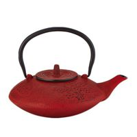 Red Bamboo Cast Iron Teapot