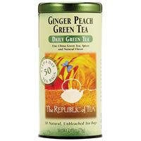 Ginger Peach Green Tea Bags