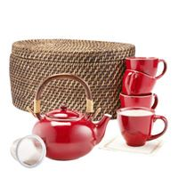 Red Blaze Tea Set
