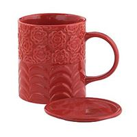 Red Tea Mug w/Lid