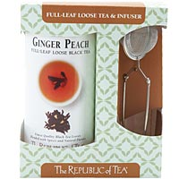 Ginger Peach Full Leaf Tea and Infuser Set