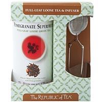 Pomegranate Full-Leaf Tea & Infuser Set