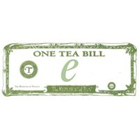 Electronic Tea Bill Gift Certificate