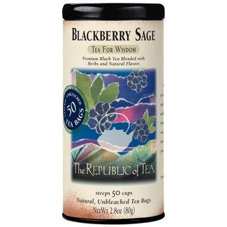 Blackberry Sage Black Tea Bags The Republic Of Tea