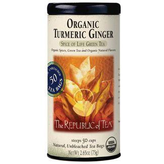 Organic Turmeric Ginger Green Tea Bags | The Republic of Tea