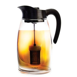 Double infusion iced tea pitcher the republic of tea - Heat proof pitcher ...