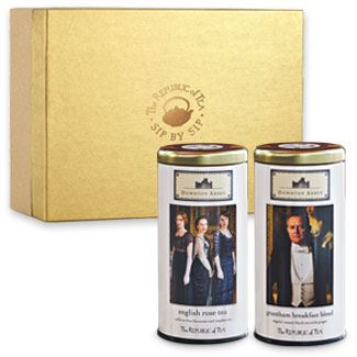 Two of the three Downton Abbey teas from The Republic of Tea.