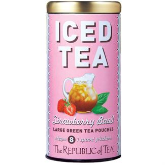 Strawberry Basil Green Tea Large Iced Tea Pouches | The Republic of ...