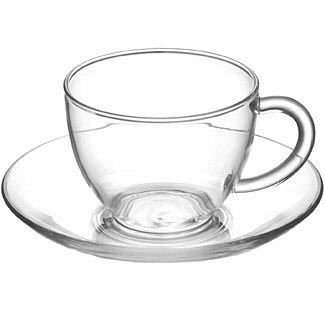 The Republic of Tea's Glass Tea Cup & Saucer