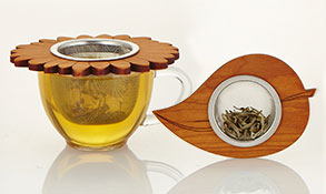 wood tea infuser
